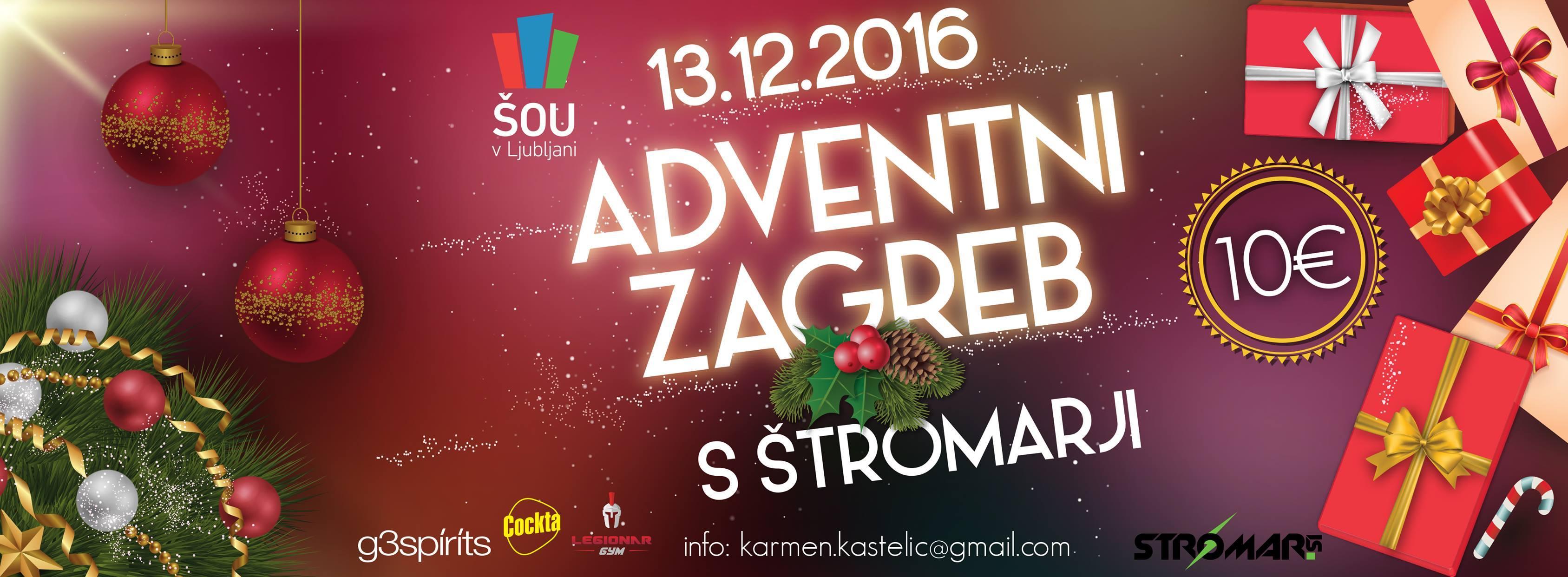 Adventni Zagreb s ŠOU v Ljubljani - Stromar.si