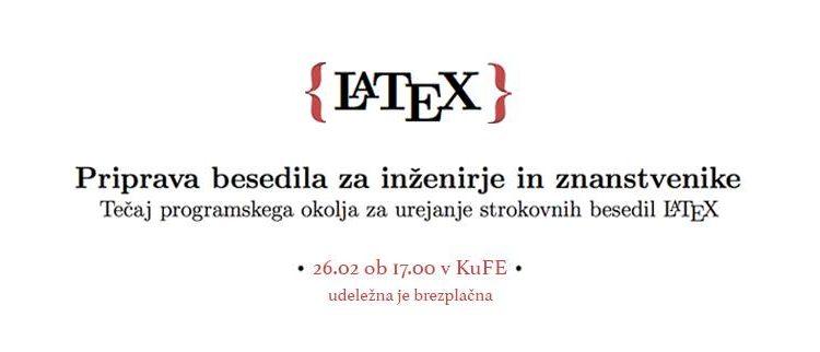 Začetni tečaj programskega okolja LaTeX