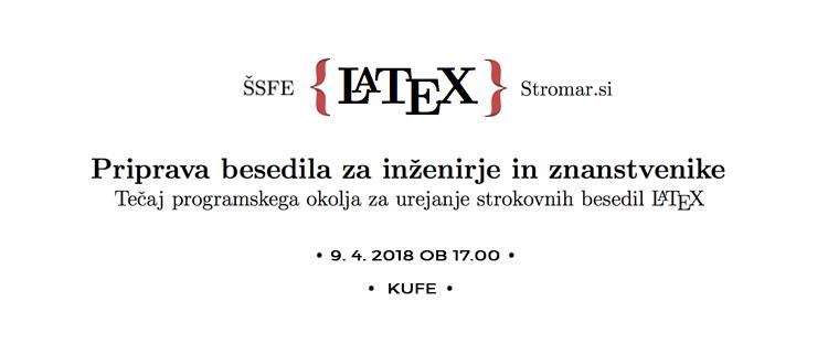 Tečaj programskega okolja LaTeX, 9.4.2018